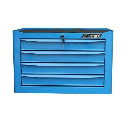 25.9 in. W x 17.7 in. D x 17.2 in.4-Drawer H Steel Tool Chest, Blue