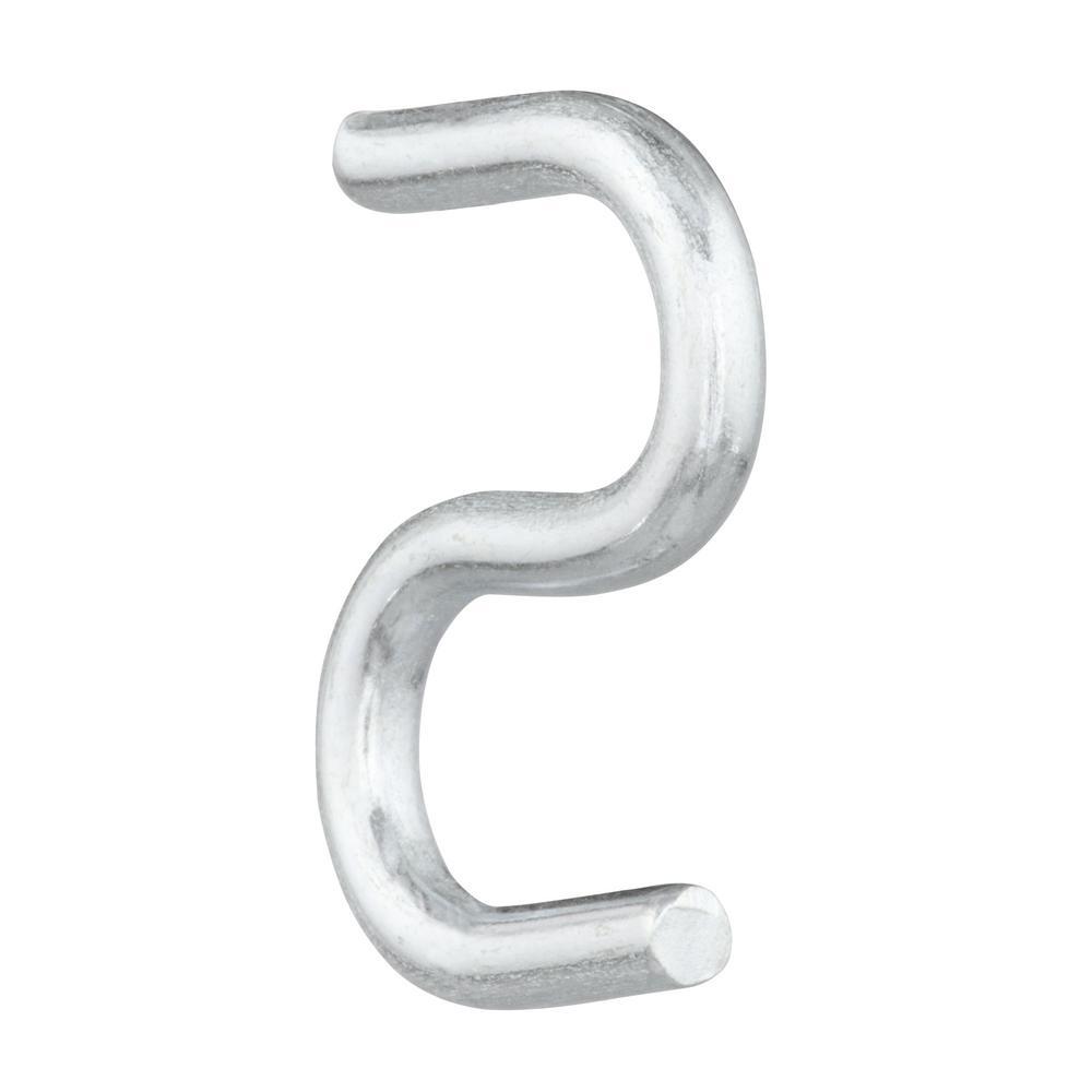 Pack of 10 Nickel Plated Steel S Hook 3//4 inch Length