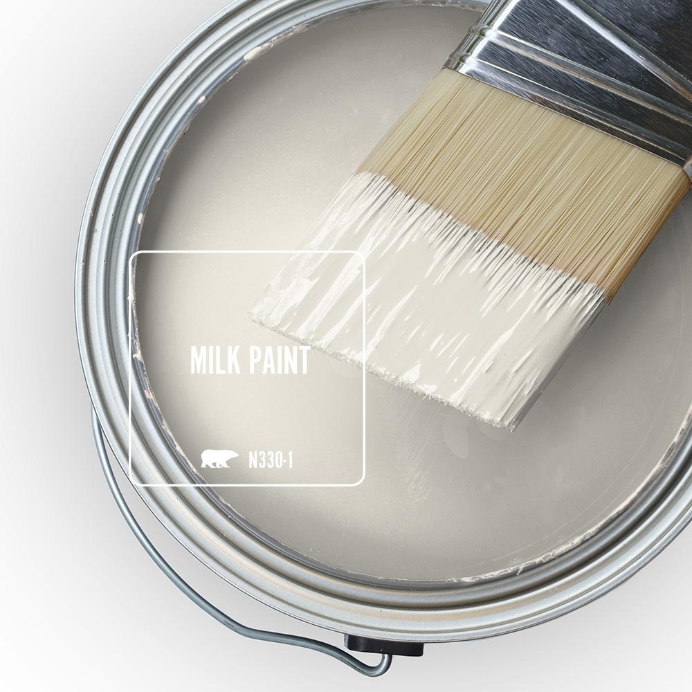 Behr Marquee 1 Qt N330 1 Milk Paint Eggshell Enamel Interior Paint And Primer In One 245004 The Home Depot