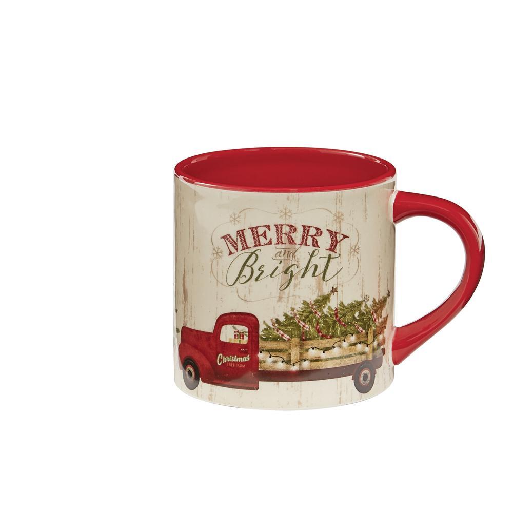 Over the River Multicolor Ceramic Coffee Mug (Set of 4)