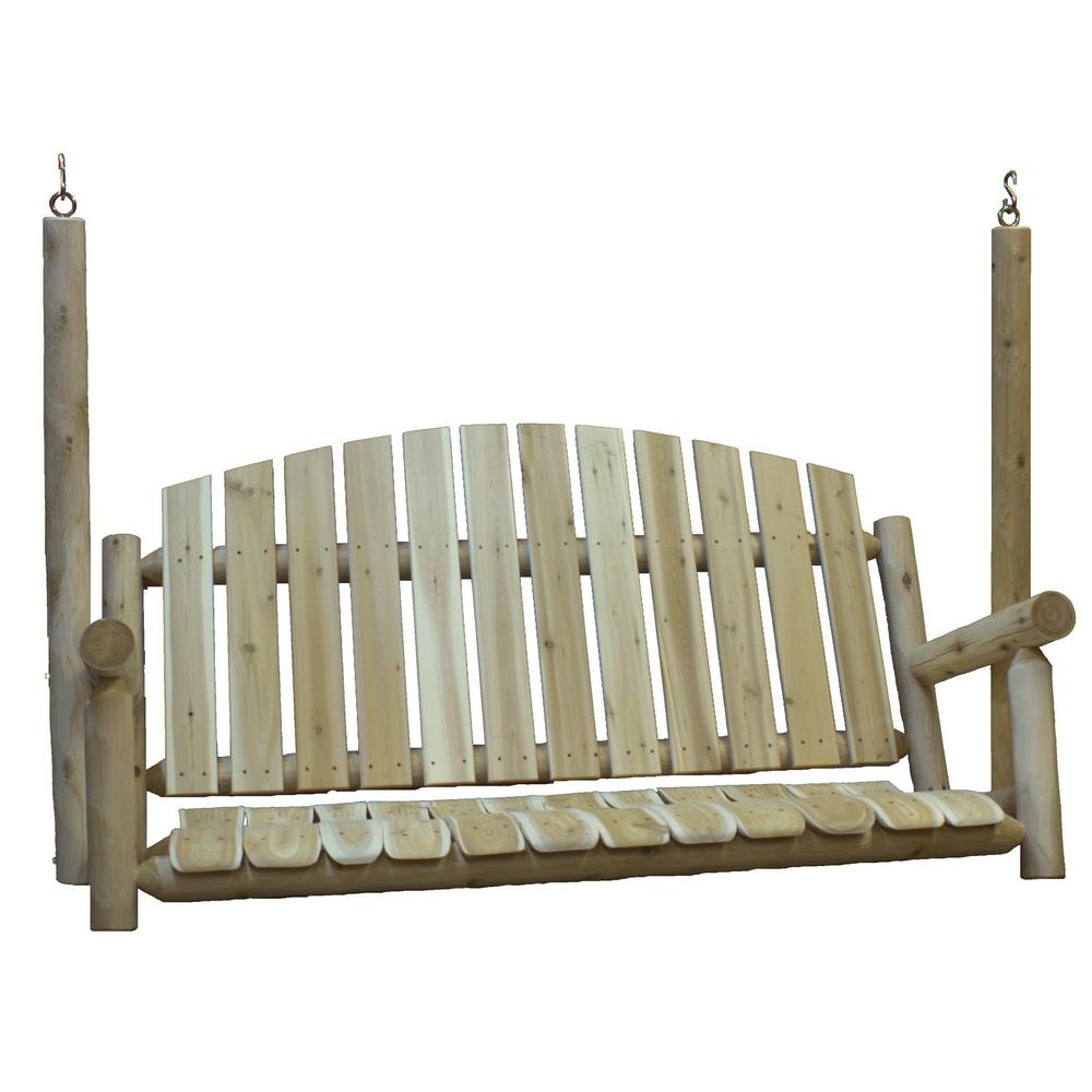 Country Garden Cedar Porch Swing
