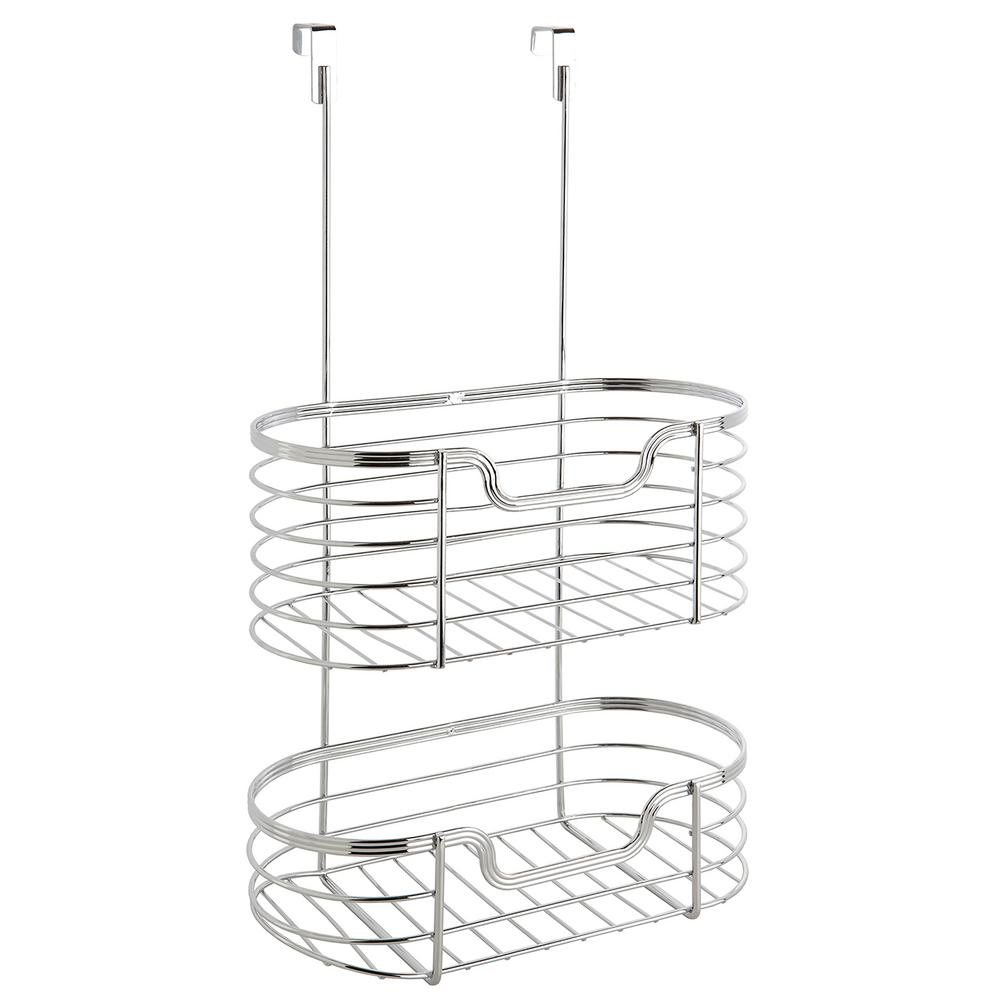 Chrome 2-Tier Over the Cabinet Organizer