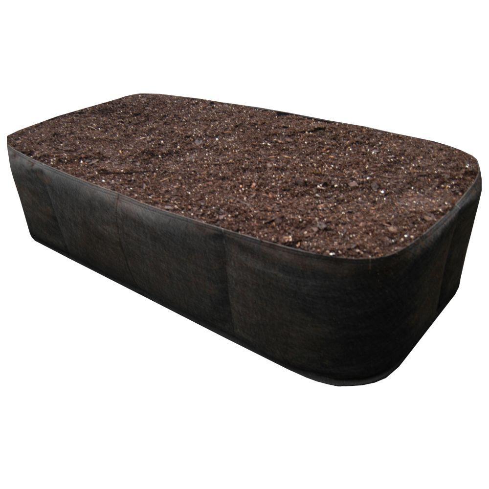 2 ft. x 4 ft. Black Instant Raised Garden Planter Bed