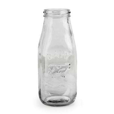 Country 10.5 oz. Clear Milk Bottle (Set of 6)
