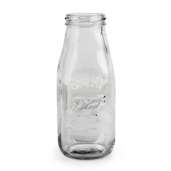 Circleware Country 10.5 oz. Clear Milk Bottle (Set of 6)