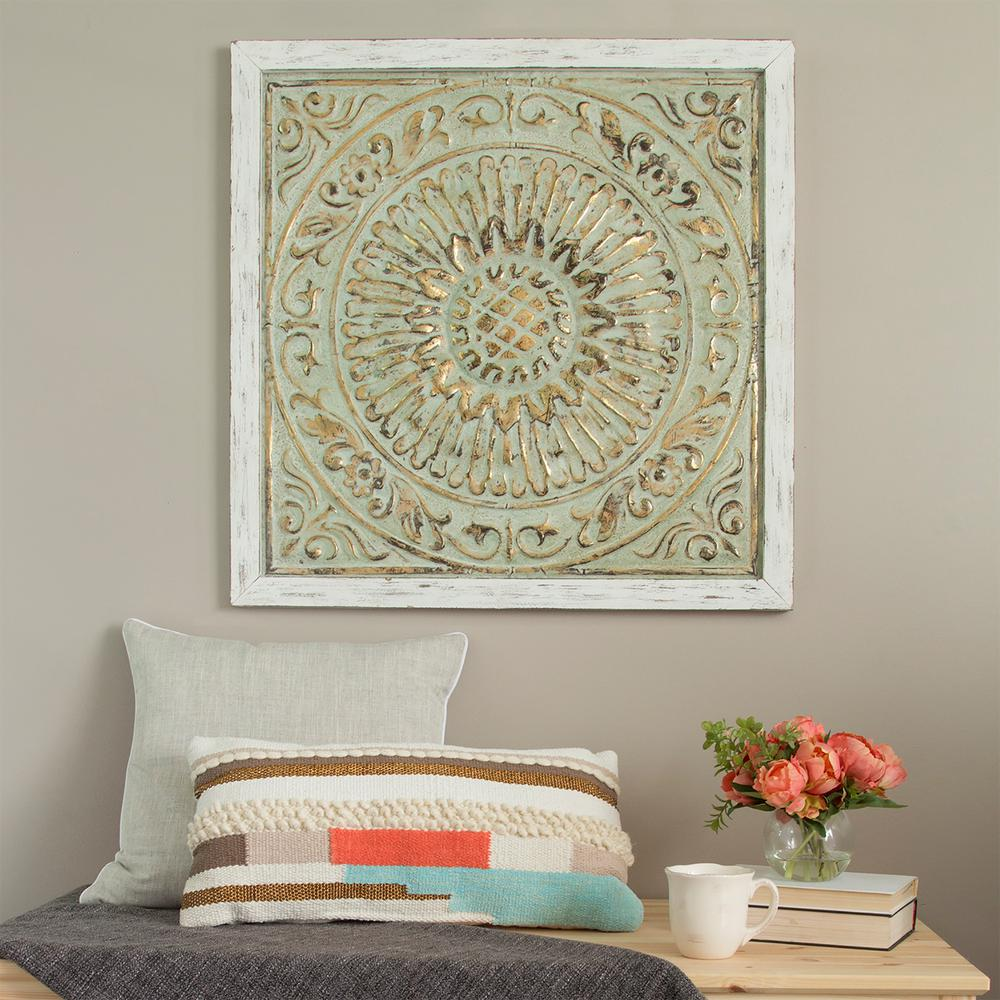 Stratton home decor framed metal medallion wall decor for Stratton house