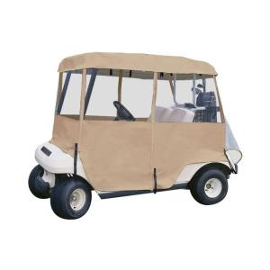Click here to buy Classic Accessories Deluxe 4-Sided Golf Car Enclosure, 2-Person by Classic Accessories.