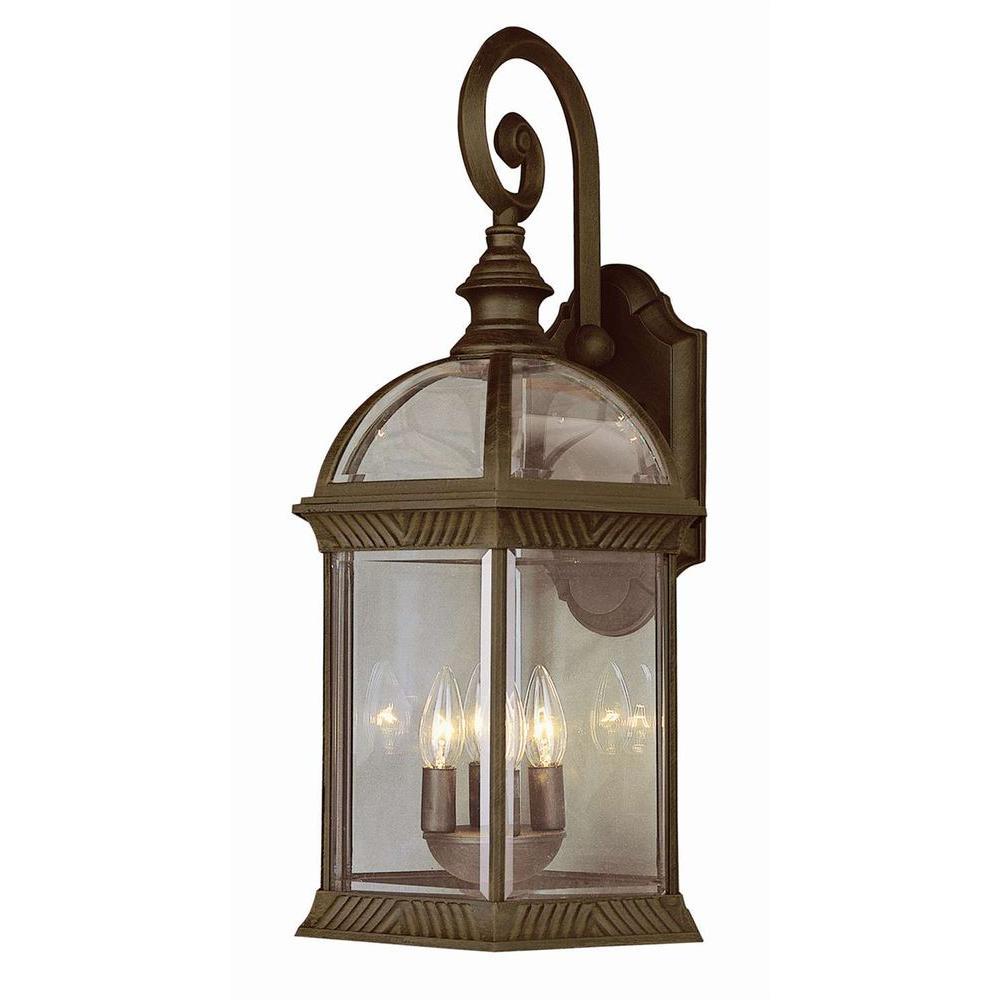 Bel Air Lighting Stewart 4-Light Outdoor Black Copper Incandescent Wall Light