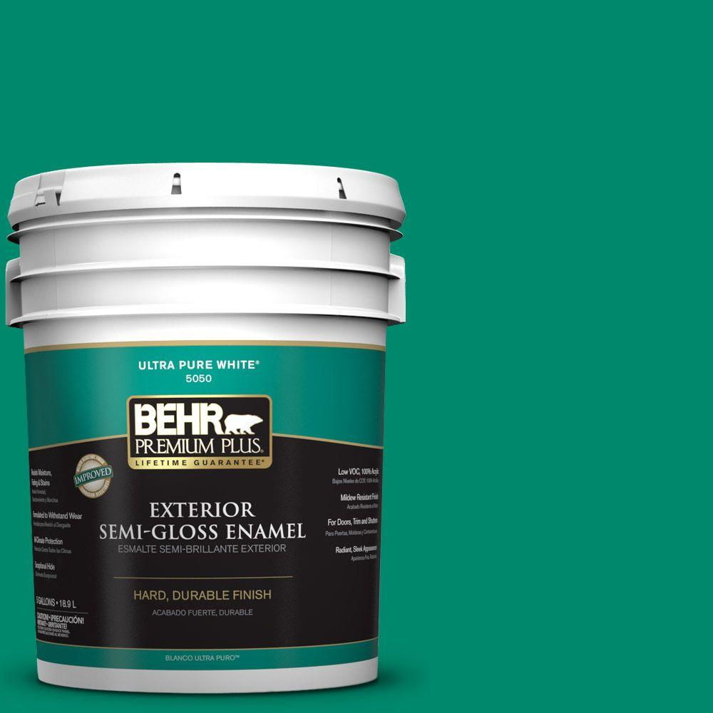 BEHR Premium Plus 5-gal. #P430-6 Fairy Queen Semi-Gloss Enamel Exterior Paint