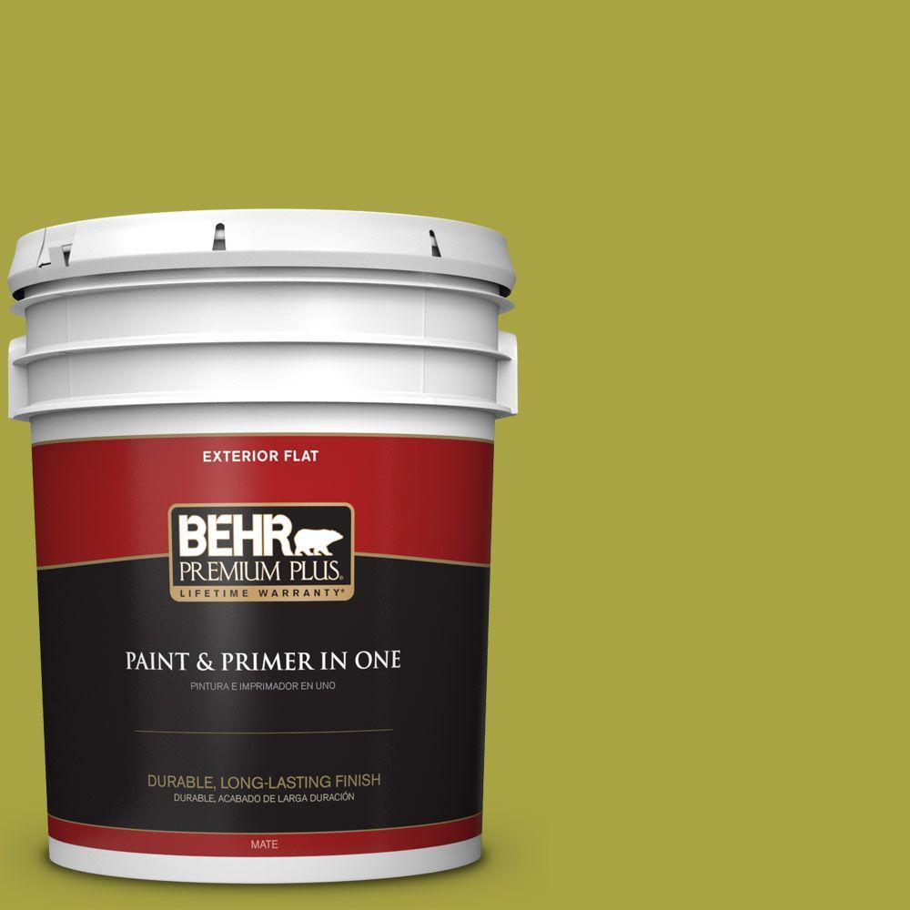 5-gal. #400B-7 Lemon Grass Flat Exterior Paint