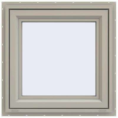 23.5 in. x 23.5 in. V-4500 Series Left-Hand Casement Vinyl Window - Tan