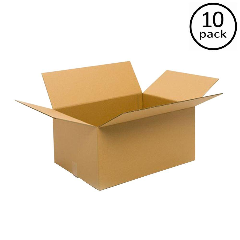 Plain Brown Box 24 in. x 18 in. x 12 in. 10 Moving Box Bundle