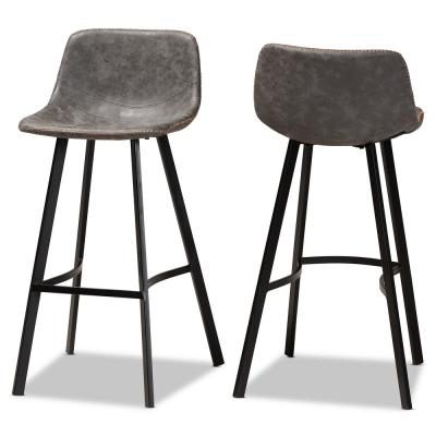 Tani 28 in. Grey Bar Stools (Set of 2)