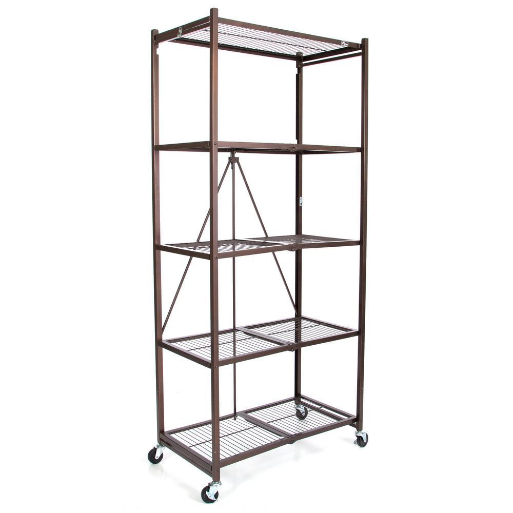 Amazon.com: Origami 5-Shelf Foldable Storage Shelves for Garage ... | 1000x1000