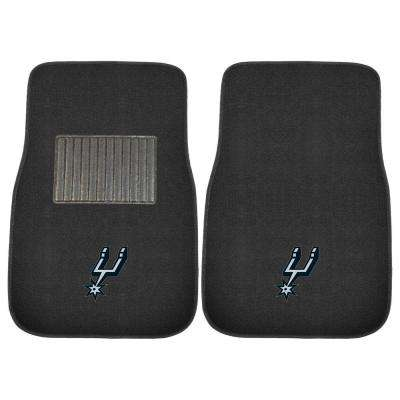NBA San Antonio Spurs 2-Piece 17 in. x 25.5 in. Carpet Embroidered Car Mat