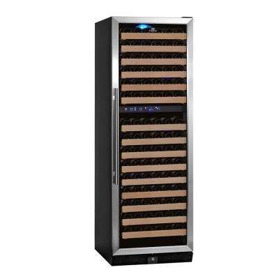 Dual Zone 23.5 in. 164-Bottle Convertible Stainless Steel Wine Cooler