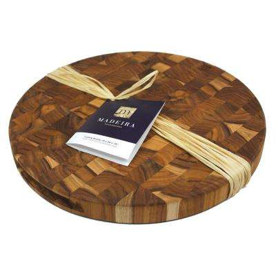 Architec Teak-End Grain Round Large Chop Block