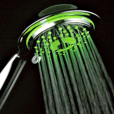 4-Spray Setting LED Handheld Shower in Chrome