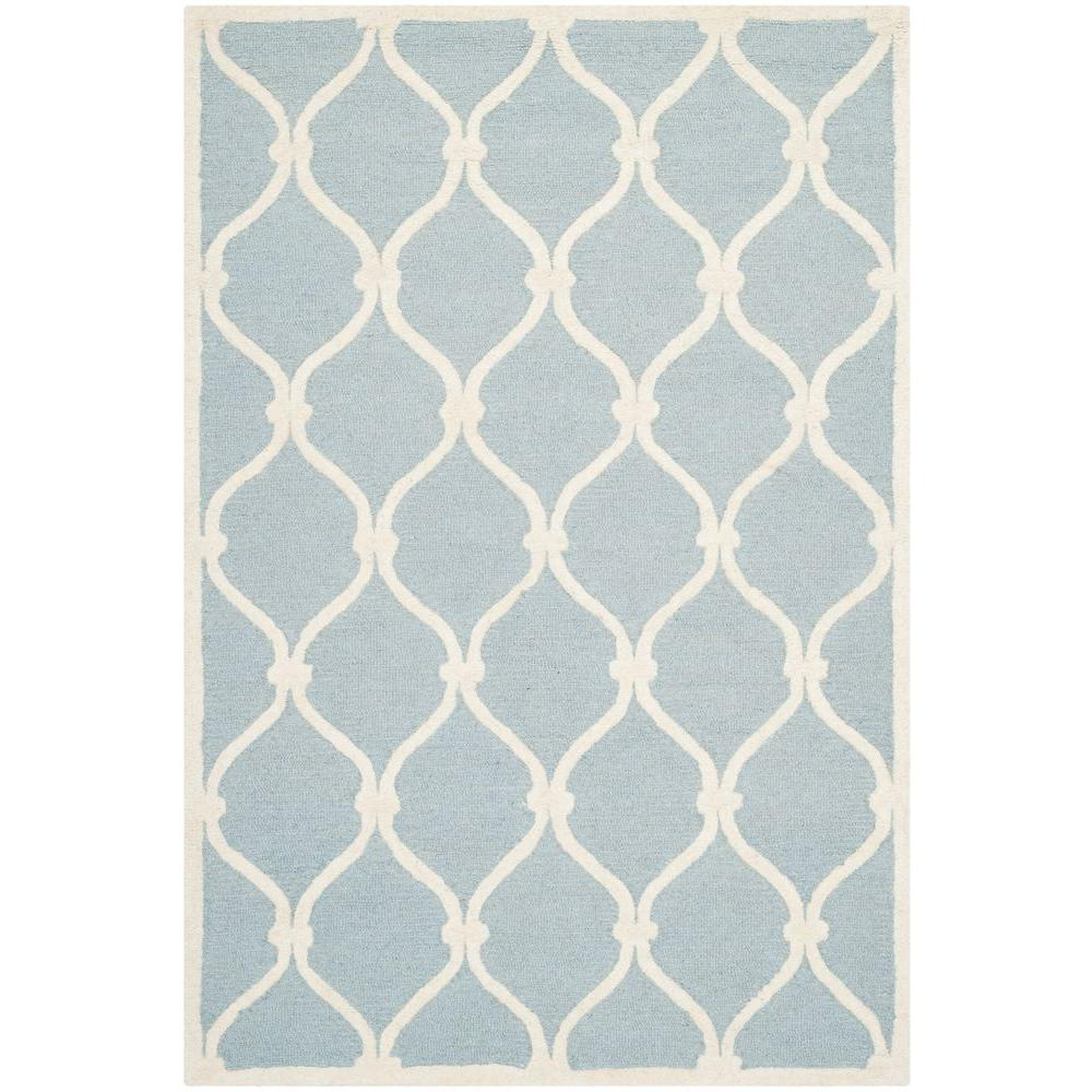 Cambridge Blue/Ivory 4 ft. x 6 ft. Area Rug