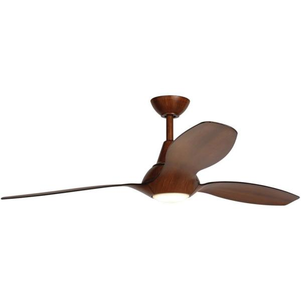 Home Decorators Collection Tidal Breeze 56 In Led Indoor Distressed Koa Ceiling Fan With Light And Remote Control 04662 The Home Depot