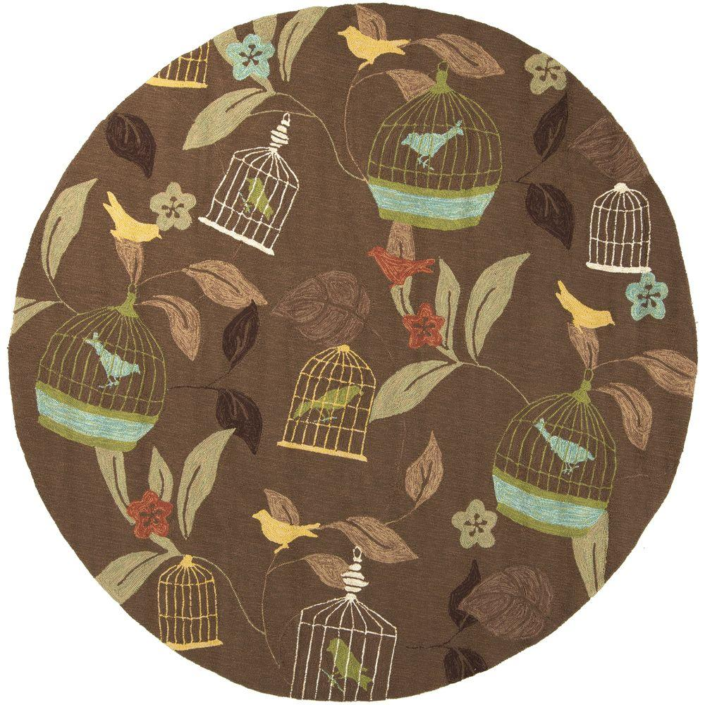 Artistic Weavers Anamudi Taupe 8 ft. x 8 ft. Round Indoor/Outdoor Area Rug