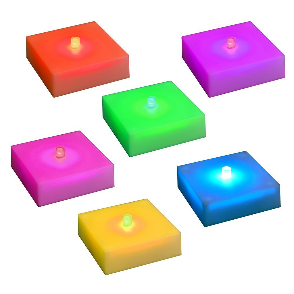 Color Changing LED Lights with Timer (Set of 6)