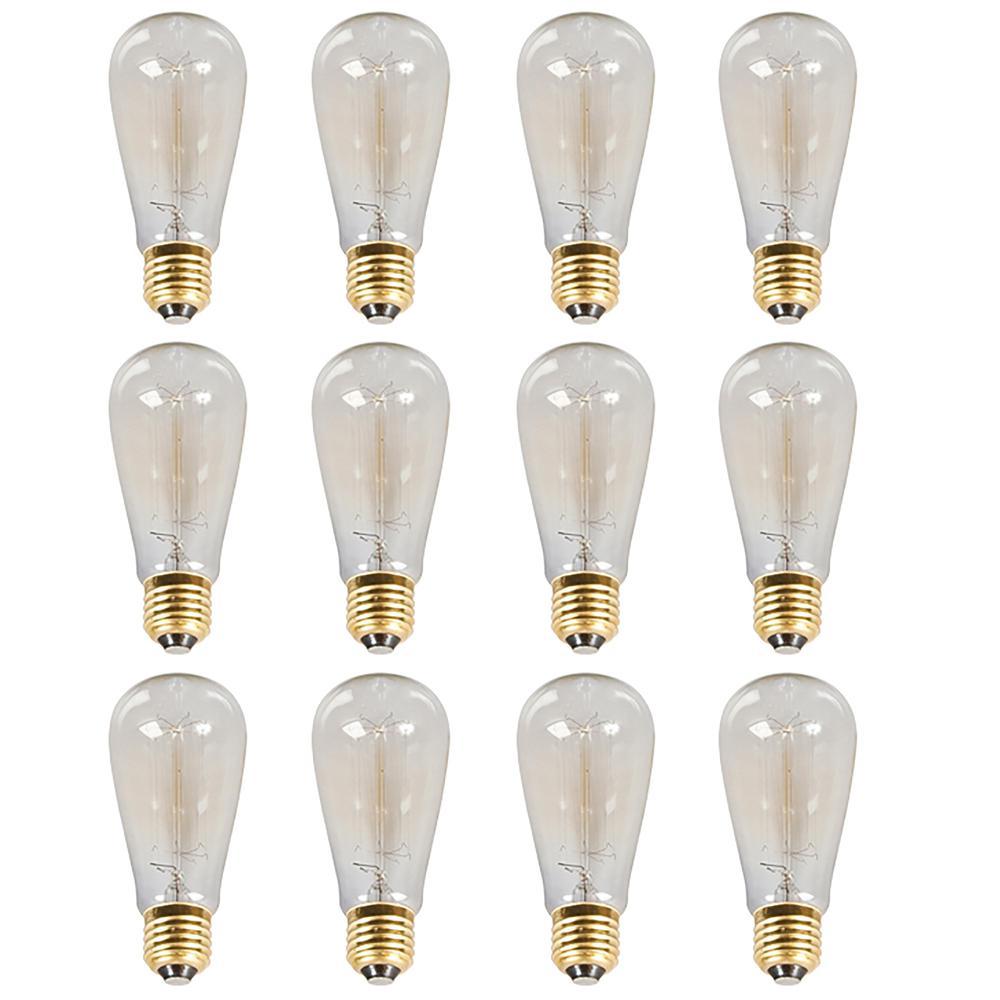 100-Watt Incandescent A19 Light Bulb (12-Pack)