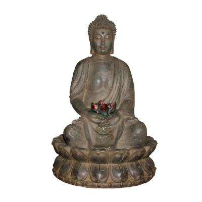 Tabletop Buddha Water Feature Fountain with LED Light