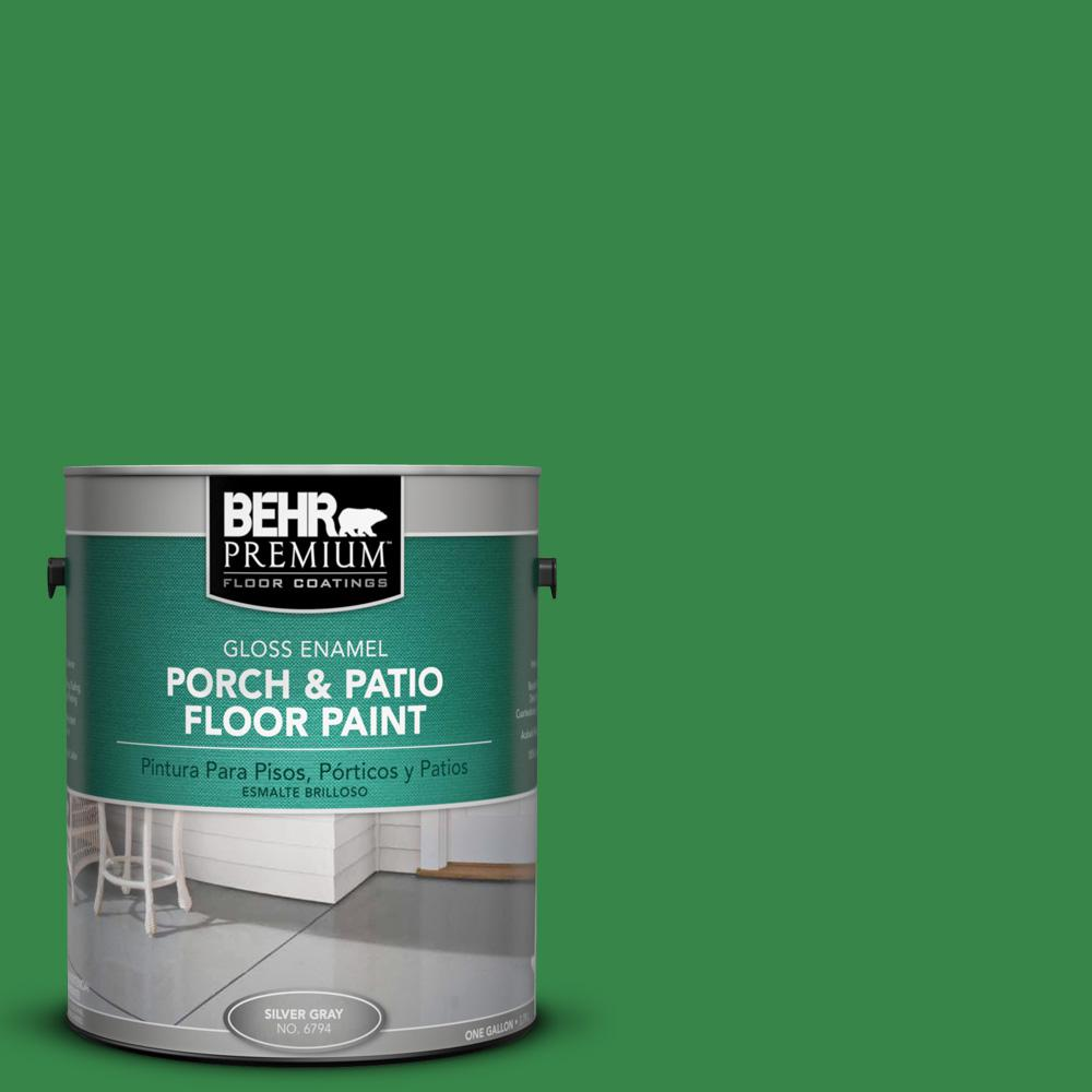1 gal. #450B-7 Green Grass Gloss Porch and Patio Floor Paint
