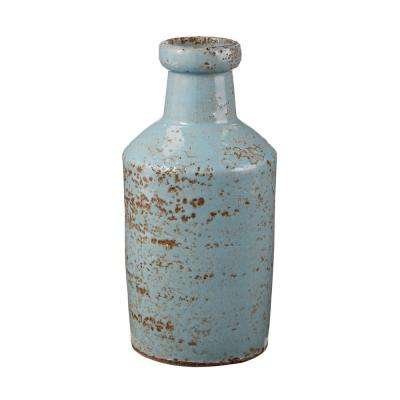 4 in. x 8 in. Rustic Persian Earthenware Decorative Milk Bottle