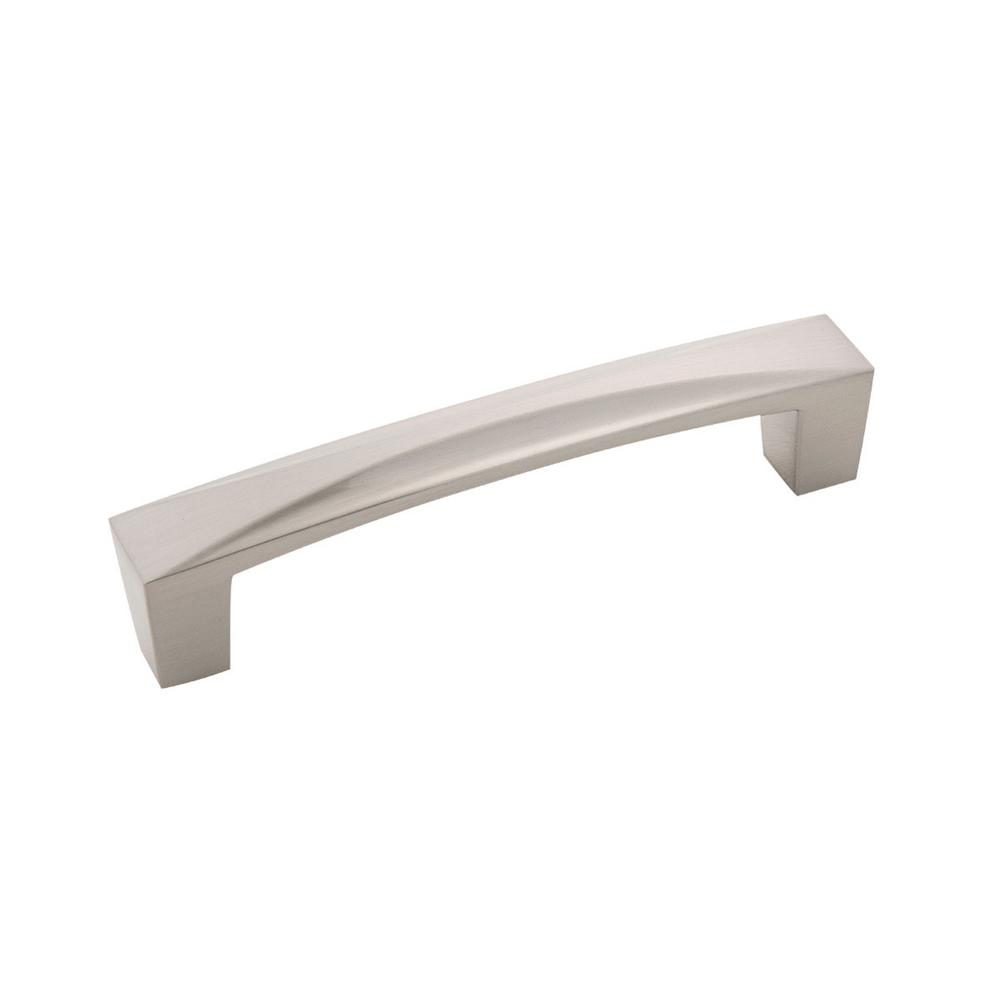 Crest 3-3/4 in. 96 mm Satin Nickel Cabinet Door/Drawer Pull