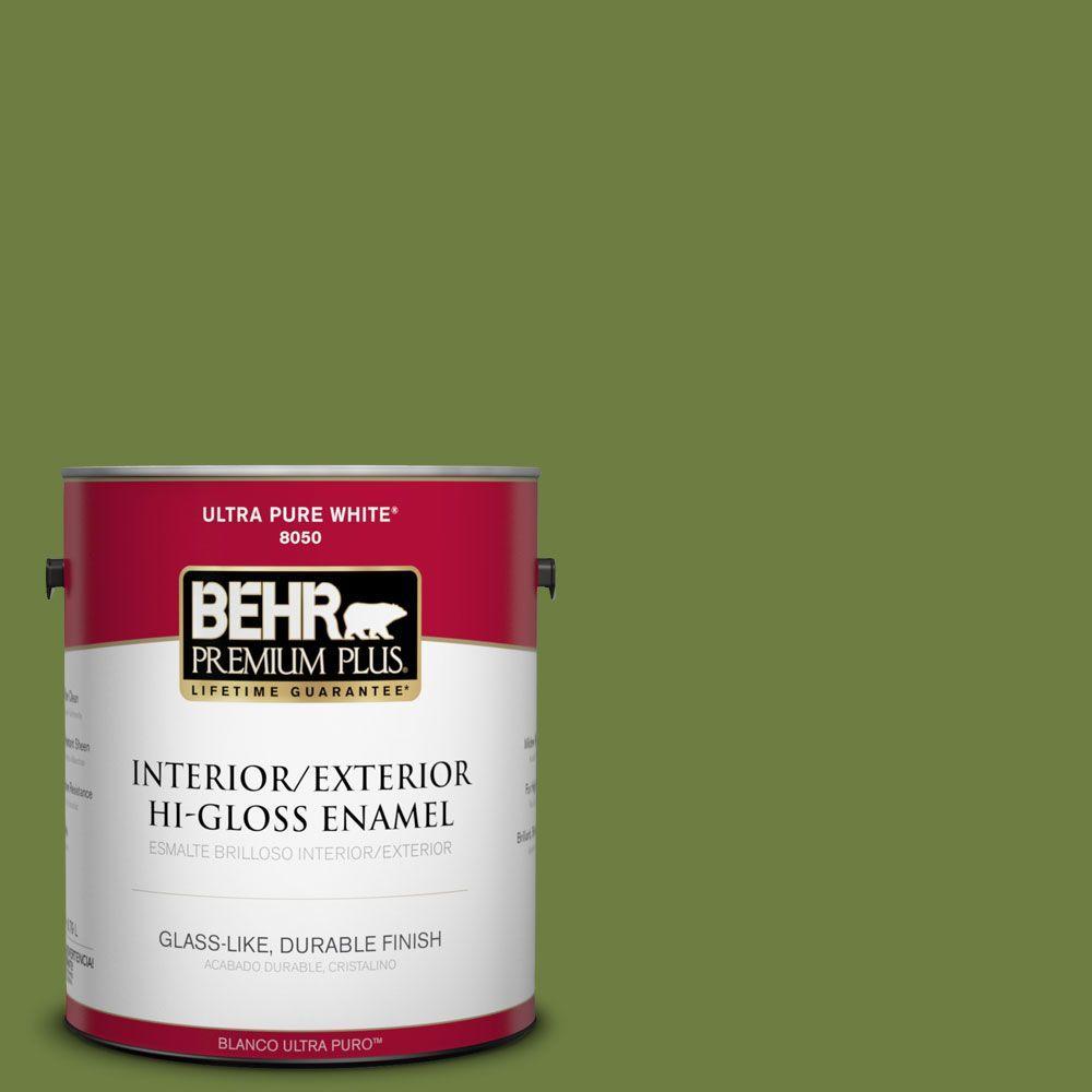 BEHR Premium Plus 1-gal. #M360-7 Rockwall Vine Hi-Gloss Enamel Interior/Exterior Paint