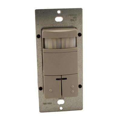 Decora Commercial Grade Passive Infrared Single-Pole Dual Relay 2100 sq. ft. 180-Degree Occupancy Sensor, Gray