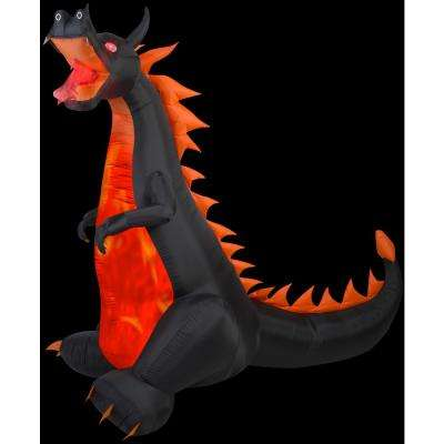 90.16 in. W x 52.76 in. D x 83.86 in. H Projection Fire and Ice-Dragon w/Flaming Mouth