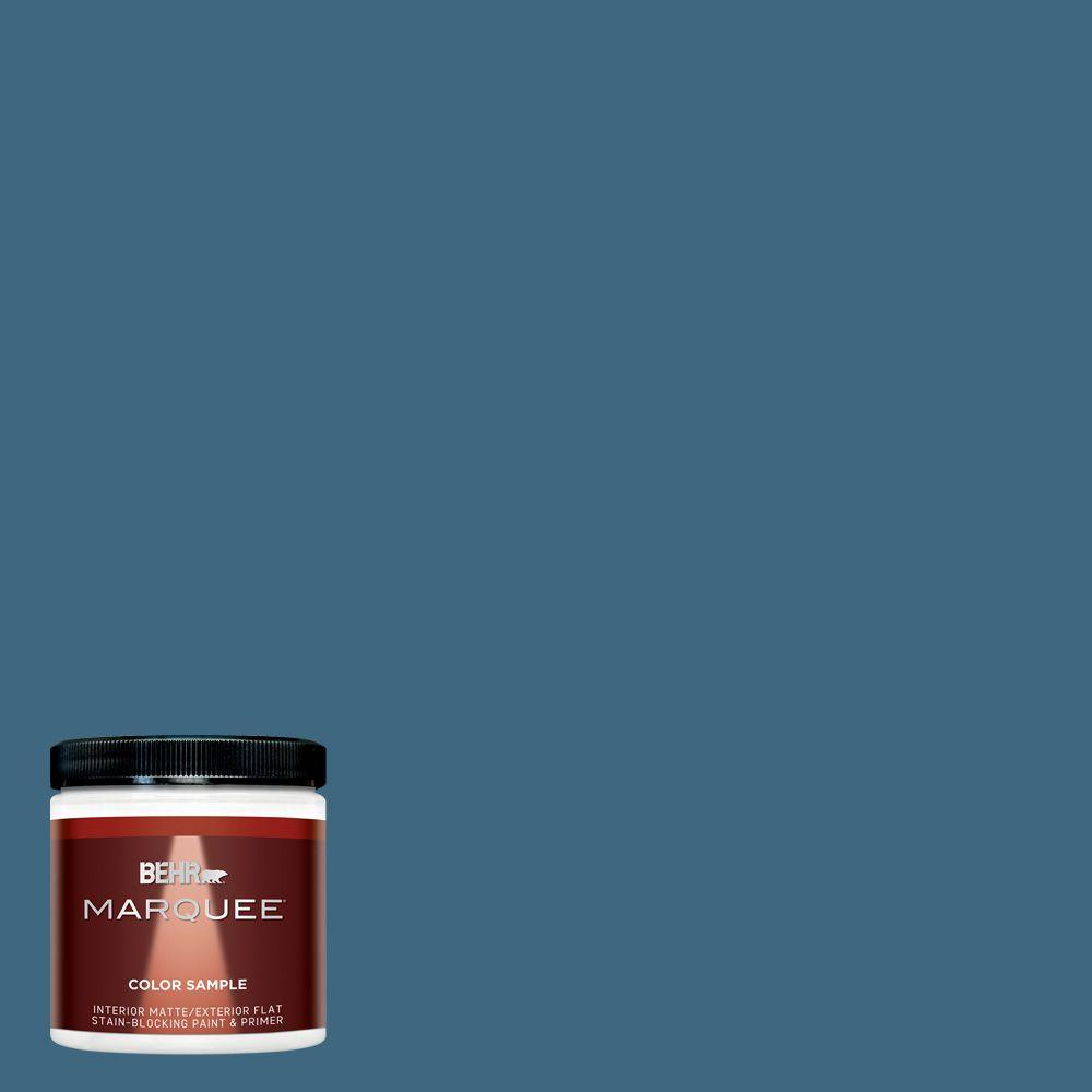 8 oz. #MQ5-61 Ocean Storm Interior/Exterior Paint Sample