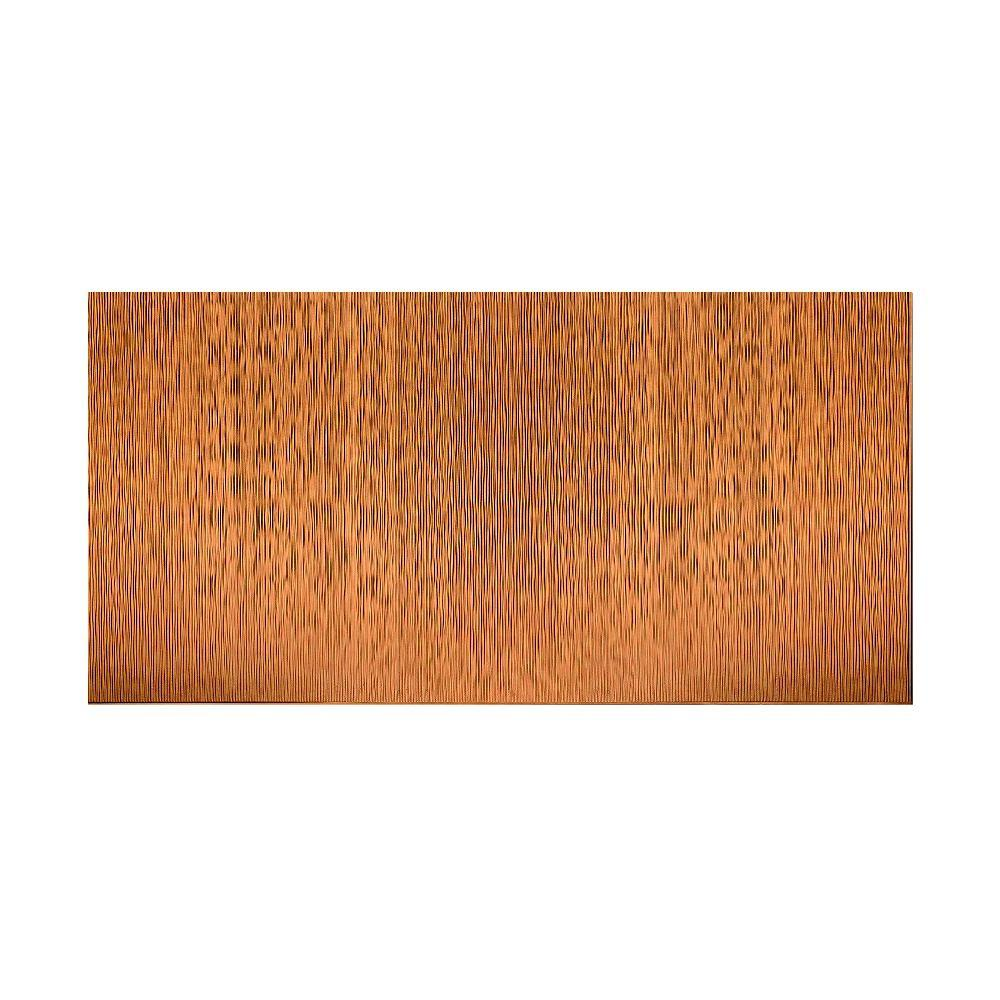 Fasade Ripple Vertical 96 in. x 48 in. Decorative Wall Panel in Antique Bronze