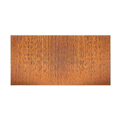 Ripple Vertical 96 in. x 48 in. Decorative Wall Panel in Antique Bronze