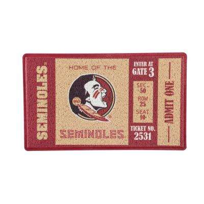 Florida State University 30 in. x 18 in. Vinyl Indoor/Outdoor Turf Floor Mat