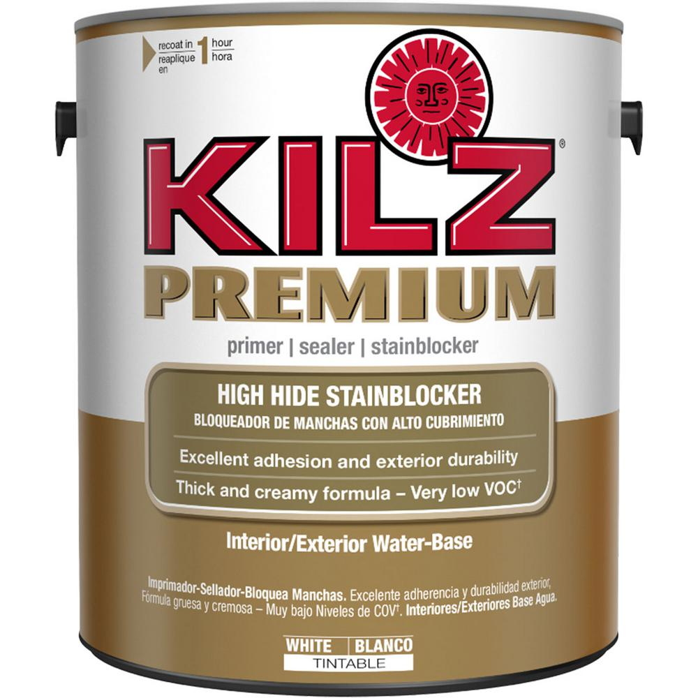 KILZ PREMIUM 1 gal. White Interior/Exterior Primer, Sealer, and Stain Blocker