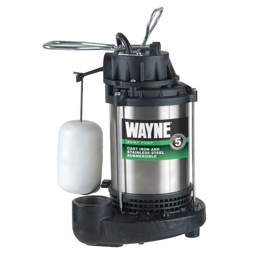 Wayne 1 Hp Sump Pump Cdu1000 The Home Depot
