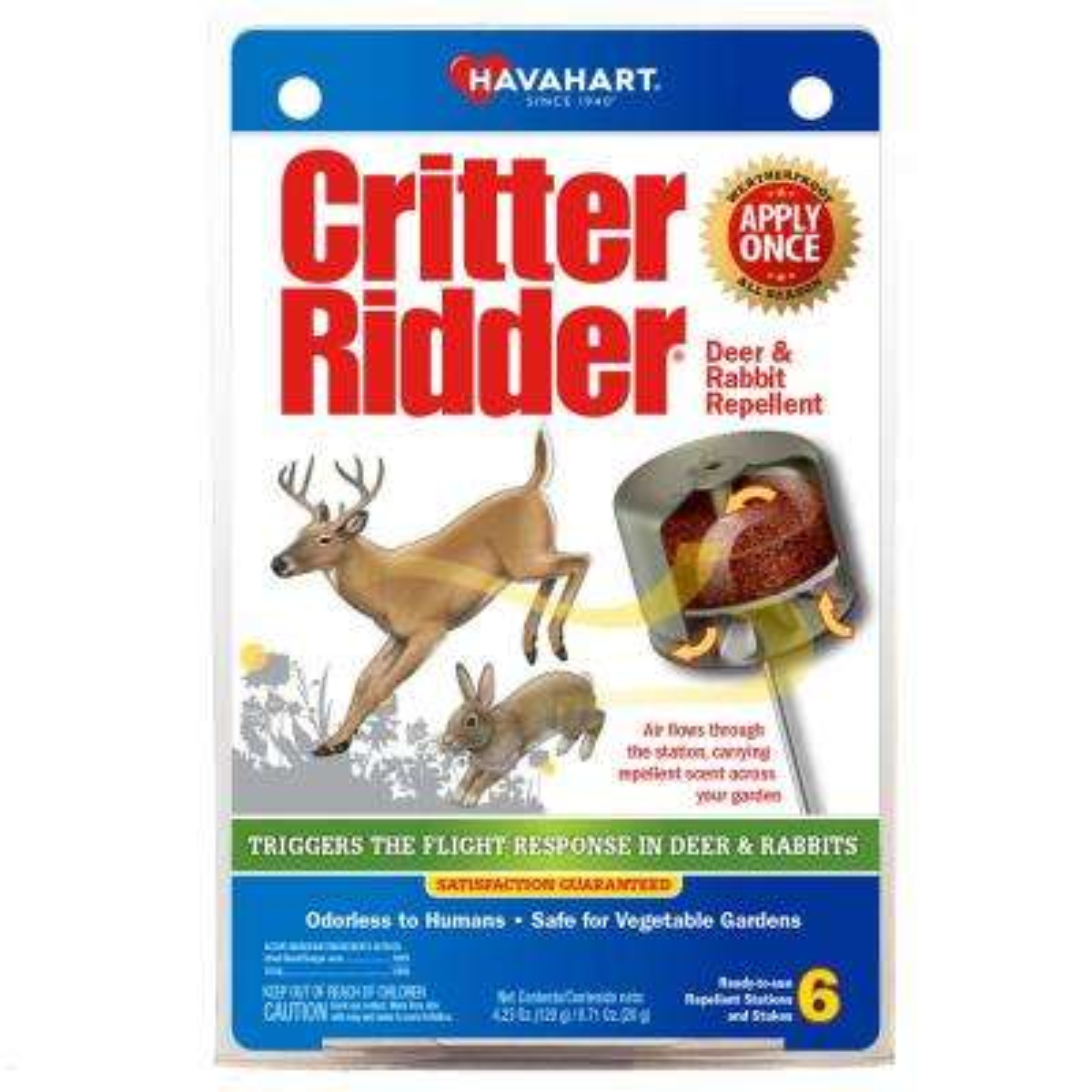 Critter Ridder Deer and Rabbit Weatherproof Repellent Stations (6-Count)
