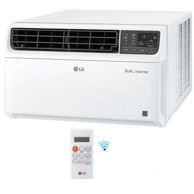 18,000 BTU Dual Inverter Smart Window Air Conditioner with Wi-Fi Enabled and Remote in White