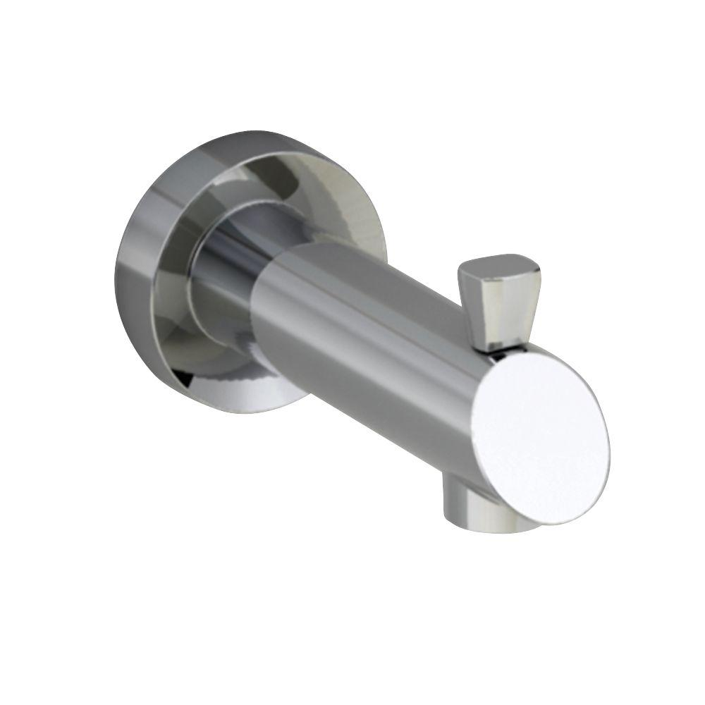 diverter connection tub chrome p with slip in spout fit moen