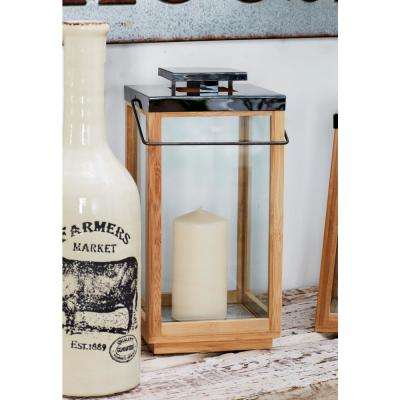 Brown Candle Lantern with Handle