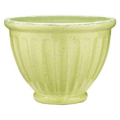 19 in. Dia Caylo Irish Cream Ceramix Glaze Planter