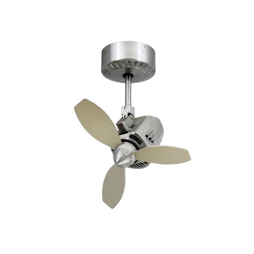 TroposAir Mustang 18 in. Oscillating Brushed Aluminum Indoor/Outdoor Ceiling Fan