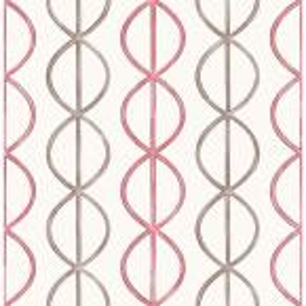 Sam, Banning Stripe Pink Geometric Wallpaper