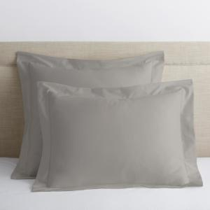 Legends Luxury Solid Sterling Gray 500-Thread Count Cotton Sateen Euro Sham