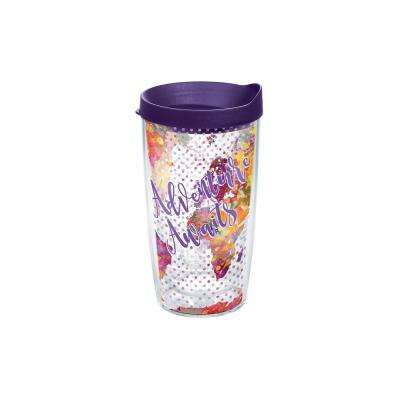 Adventure Awaits 16 oz. Double Walled Insulated Tumbler with Travel Lid