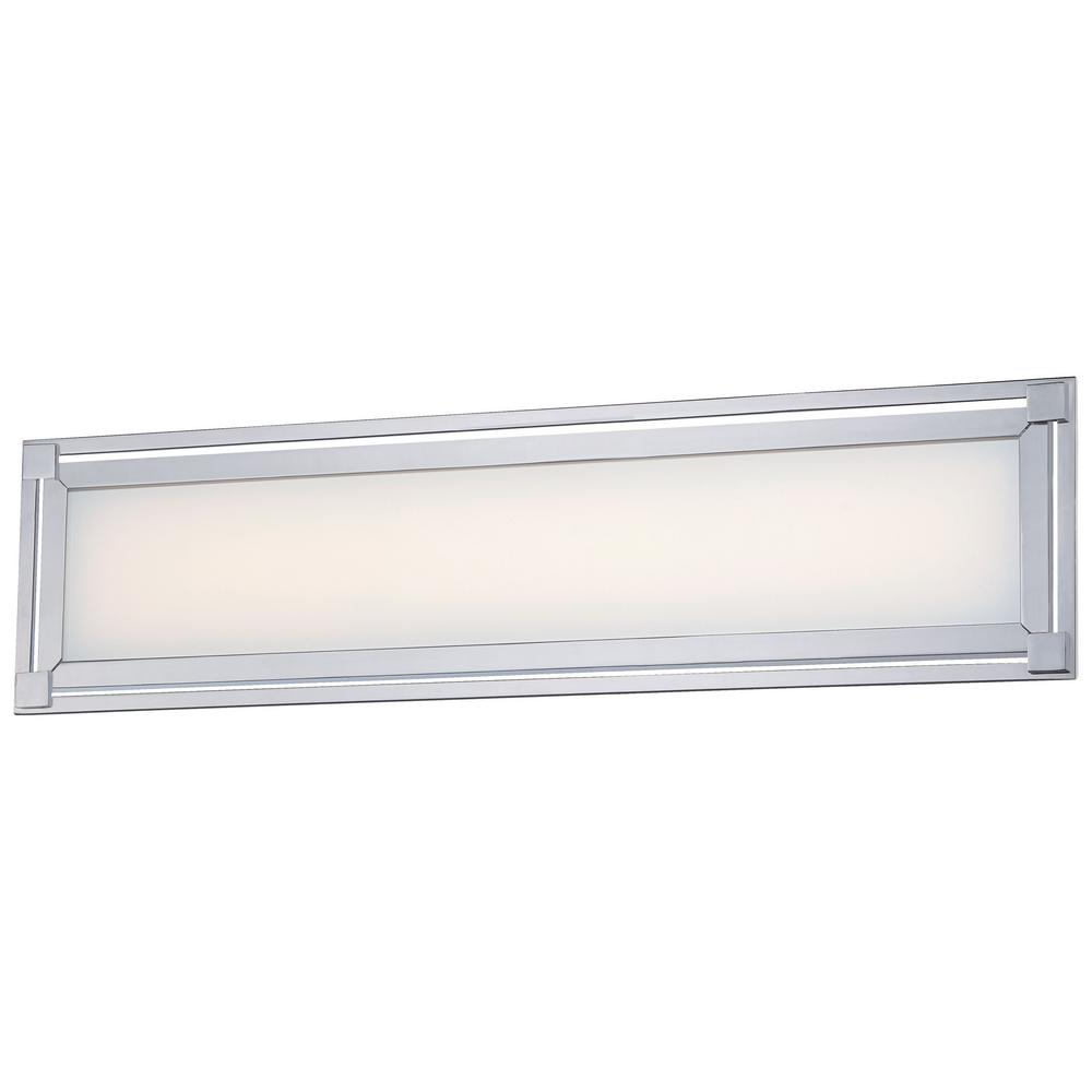 kovacs bathroom lighting george kovacs framed 35 watt chrome integrated led bath 13392